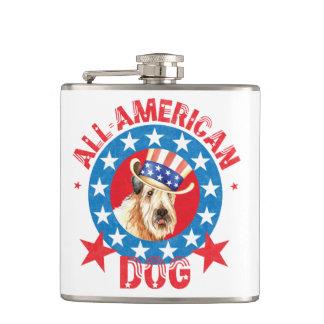 Patriotic Wheaten Hip Flask