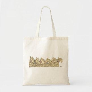 Patriotic Wheaten Scottish Terriers Bags