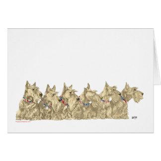Patriotic Wheaten Scottish Terriers Greeting Card