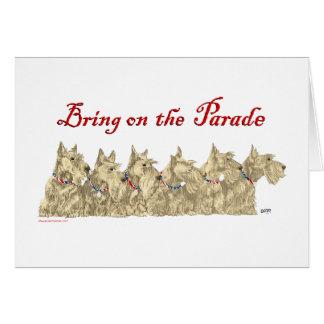 Patriotic Wheaten Scottish Terriers Greeting Cards