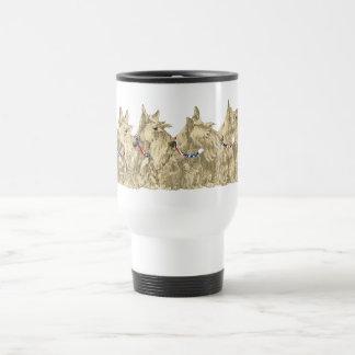 Patriotic Wheaten Scottish Terriers Coffee Mugs