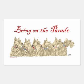 Patriotic Wheaten Scottish Terriers Sticker