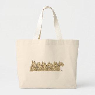 Patriotic Wheaten Scottish Terriers Jumbo Tote Bag