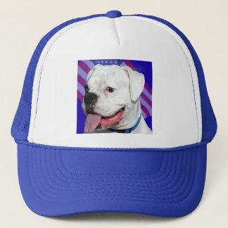 Patriotic white boxer hat