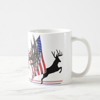 Patriotic Whitetail buck Coffee Mug