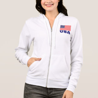 Patriotic women's hoodie with American flag | USA