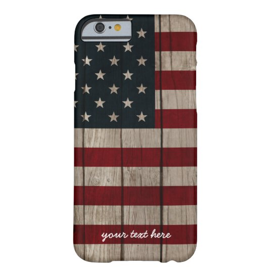 Patriotic Wood texture Barely There iPhone 6 Case
