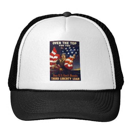 Patriotic World War One OVER THE TOP Mesh Hat