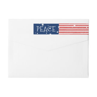 Patriotic Wraparound Holiday Address Labels