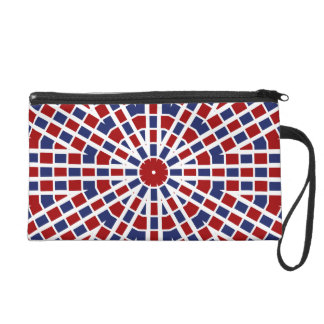 Patriotic Wristlet Red White and Blue
