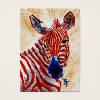 Patriotic Zebra ArtCard Business Card