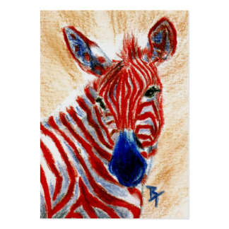 Patriotic Zebra ArtCard Pack Of Chubby Business Cards