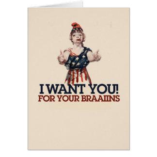 Patriotic Zombie Card