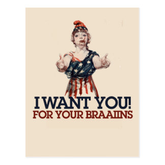 Patriotic Zombie Post Cards