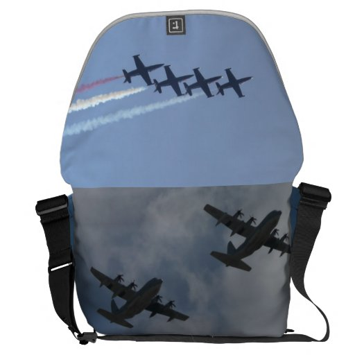 Patriots Jet Team pic & military aircraft bag Courier Bags