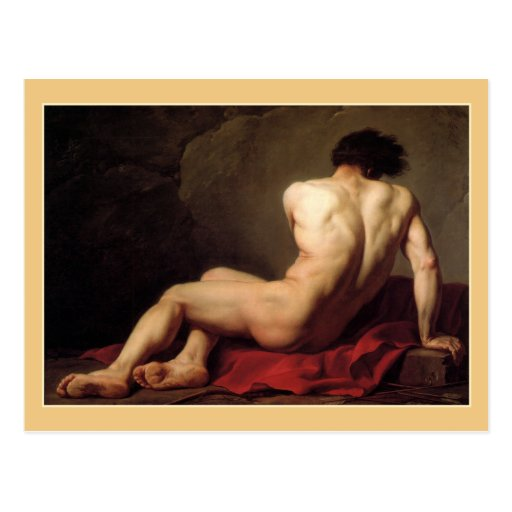 Patroclus by Jacques Louis David Post Card