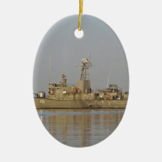 Patrol Boat Ceramic Oval Decoration