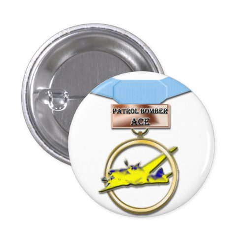 Patrol Bomber Ace medal button