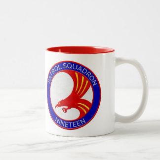 """PATRON 19 - """"Big Red"""" - Drinkware Two-Tone Coffee Mug"""