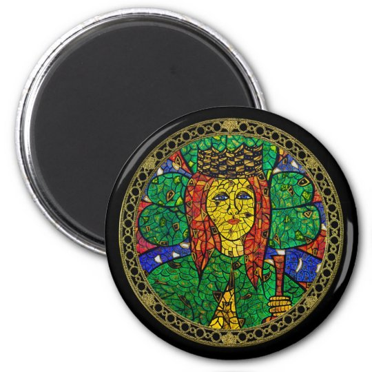 Patron Saint Of Depression And Anxiety St Dymphna 6 Cm Round Magnet