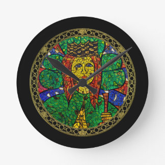 Patron Saint Of Depression And Anxiety St Dymphna Round Clock
