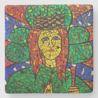 Patron Saint Of Depression And Anxiety St Dymphna Stone Coaster