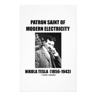 Patron Saint Of Modern Electricity (Nikola Tesla) Personalised Stationery