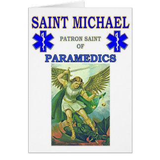 PATRON SAINT OF PARAMEDICS GREETING CARD