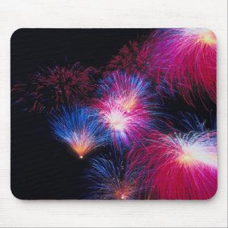 Patrotic fireballs fly, fireworks, mousepad