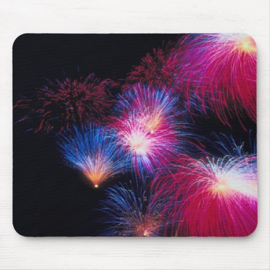 Patrotic fireballs fly, fireworks, mousepad