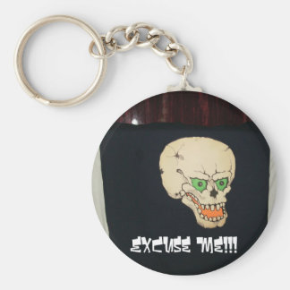 pats pics 034, ExCuse Me!!! Basic Round Button Key Ring