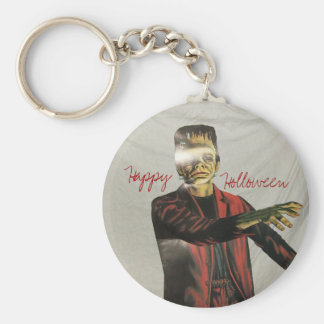 pats pics 046, Happy, Holloween, Basic Round Button Key Ring