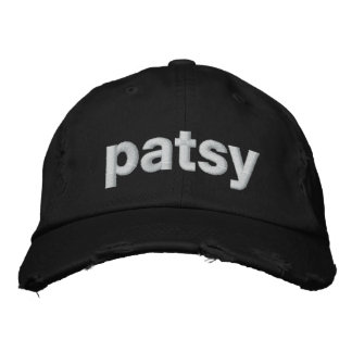 patsy embroidered hats