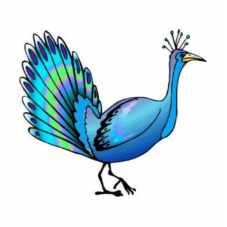 Patten Peacock Standing Photo Sculpture