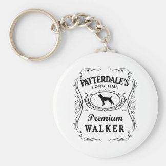 Patterdale Terrier Basic Round Button Key Ring