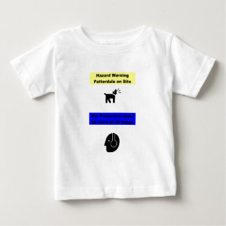 Patterdale Terrier Hazard Warning! Baby T-Shirt