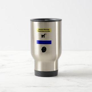 Patterdale Terrier Hazard Warning! Travel Mug