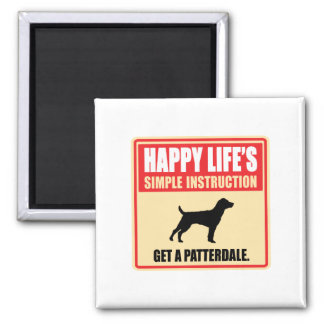Patterdale Terrier Square Magnet