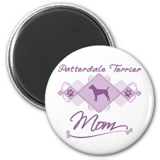 Patterdale Terrier Mom 6 Cm Round Magnet