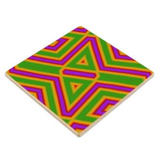 Pattern23 purple green.jpg wood coaster