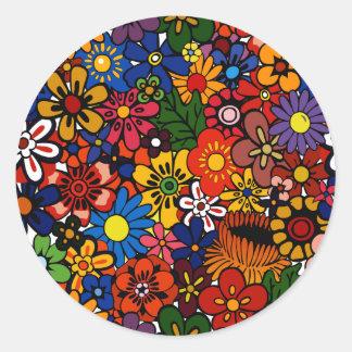Pattern 1 round sticker