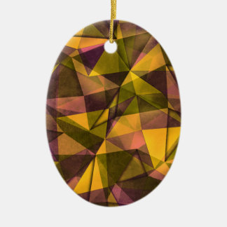 pattern art ceramic oval decoration