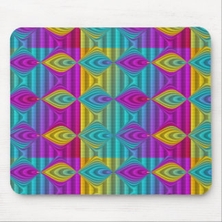 Pattern ARTs - stripes 3D coloured 21 Mouse Pad