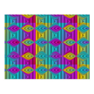 Pattern ARTs - stripes 3D coloured 21 Postcards