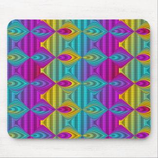 Pattern ARTs - stripes 3D coloured 22 Mouse Pad