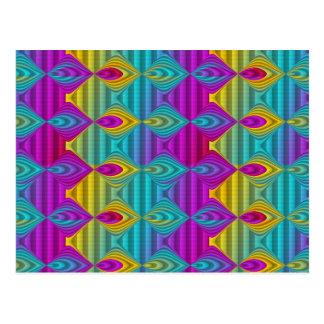 Pattern ARTs - stripes 3D coloured 22 Postcard