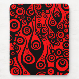 Pattern ARTs - Tattoo circle flames | fire red Mousepads
