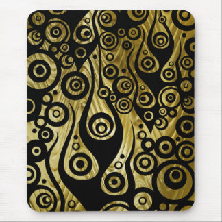Pattern ARTs - Tattoo circle flames | golden waves Mouse Pads