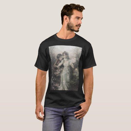 PATTERN BLACK AND WHITE ROMANTIC COUPLE T-Shirt
