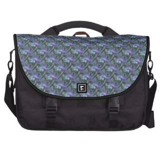 Pattern, Blue and Lavender Curving Textures Laptop Bag